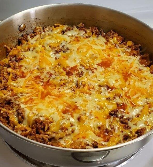 ONE POT MEXICAN RICE CASSEROLE - Recipe Ketchup